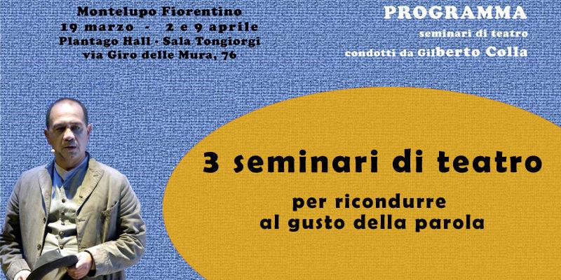 Seminari di teatro a Montelupo Fiorentino