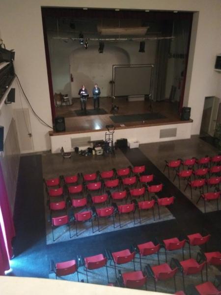 Preparando Gino Terreni al Teatro Il Momento di Empoli